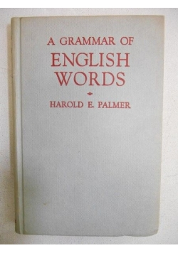 A Grammar of English Words