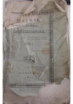 KATECHIZM RZYMSKI  Z WYROKU ŚW. SOBORU TRYDENCKIEGO, Tom I, 1827 r