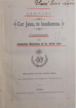 Cor Jesu, te laudamus, 1903 r.