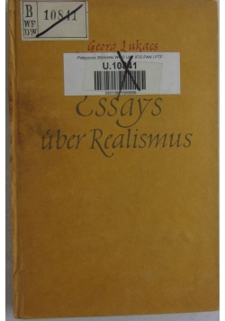Essays uber Realismus, 1948 r.