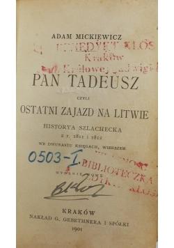 Pan Tadeusz ostatni zajazd na Litwie, 1901r, miniaturka