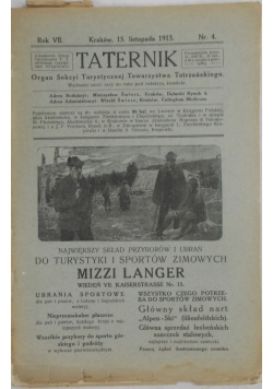 Taternik - Listopad 1913r.