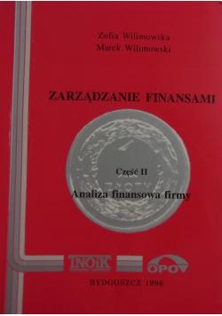 Zarządzanie finansami cz. II Analiza finansowa firmy