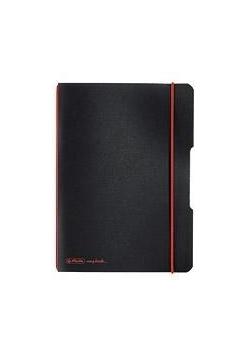 Notatnik A5/40K kratka My.BookF czarny