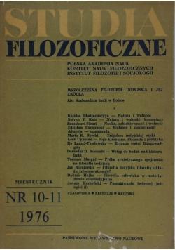Studia filozoficzne, nr 10-11 1976r.