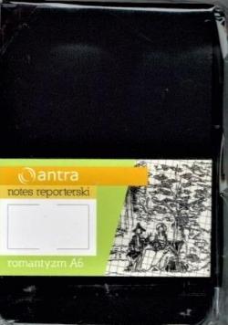 Notes Reporterski A6 Gładki Romantyzm Czarny ANTRA