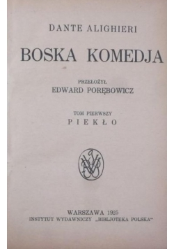 Boska komedja , 1925 r.