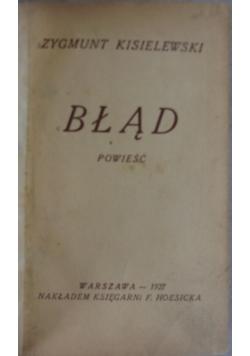 Błąd, 1927 r.