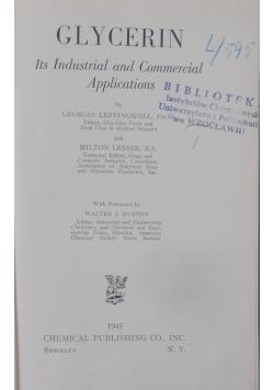 Glycerin, 1945 r.