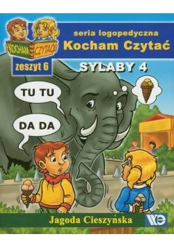 Kocham czytać zeszyt 6. Sylaby 4