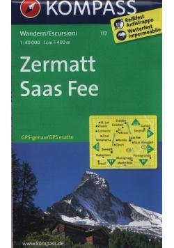 Zermatt Saas Fee 1:40 000