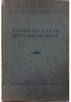 Nowenna kazań o św. Stanisławie Kostce, 1931 r.