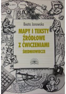 Mapy i teksty źródłowe z ćwiczeniami . Średniowiecze