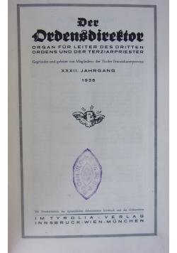 Der Ordensdirekor, 1938r.