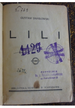 Lili, 1927 r.