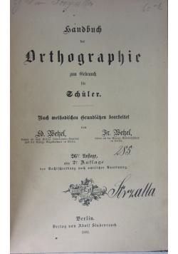 Handbuch der Orthographie, 1881r.