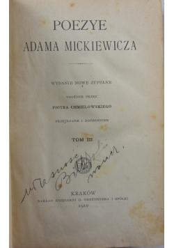 Poezye Adama Mickiewicza, tom III, 1910 r.