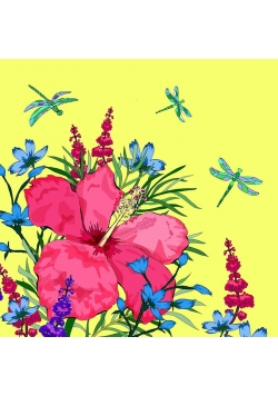 Karnet Swarovski kwadrat CL0601 Kwiaty seledyn