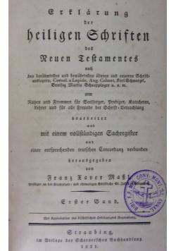 Frtlarung der heiligen Schristen,1831r.