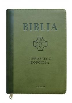 Biblia pierwszego Kościoła z paginat. ciemno-ziel.