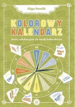 Kolorowy kalendarz. Karty edukacyjne do nauki...