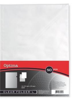 Koszulki na arkusze A4 L 80MY/50szt OPTIMA