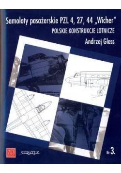 """Samoloty pasażerskie PZL 4, 27, 44 """"Wicher"""""""