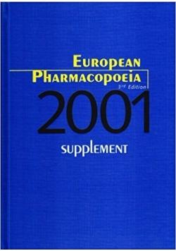 European Pharmacopoeia: 2001 Supplement, 3rd Edition