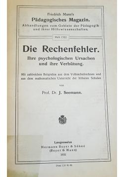 Die Rechenfehler, 1931r.