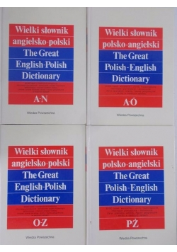 Wielki słownik angielsko - polski, 4 książki