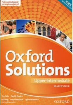 Oxford Solutions Upper-Intermediate SB OXFORD