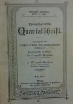 Theologisch-praktische Quartalschrift, 1922 r