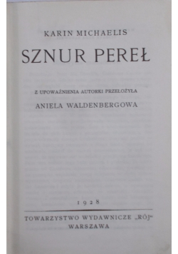 Sznur Pereł,1928r
