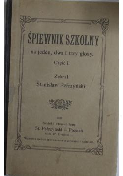 Śpiewnik szkolny, 1922 r.
