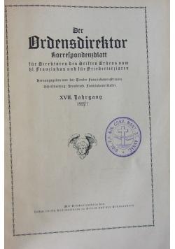 Der Ordensdirektor, 1922r.