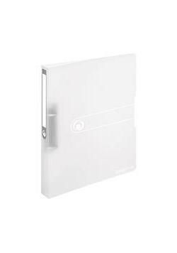 Segregator A4 PP 2R 2,5cm biały transparentny