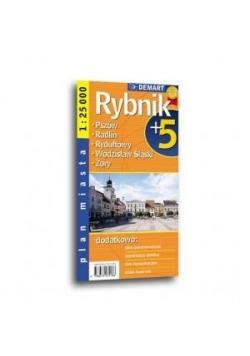 Plan miasta Rybnik +5 1:25 000 DEMART w.2016
