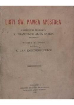 Listy Św. Pawła Apostoła, 1929 r.