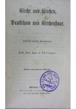 Kirche und kirchen, Papstthum und kirchenstaat, 1861 r.