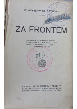 Za frontem, 1919 r.
