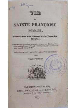 Vie de Sanite Francoise, 1841 r.