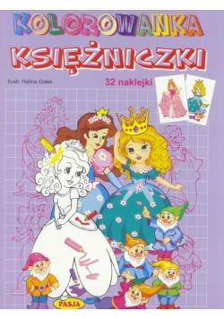 Kolorowanka Księżniczki 32 naklejki