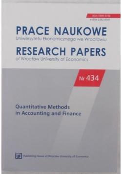 Prace naukowe Uniwersytetu Ekonomicznego we Wrocławiu, nr 434