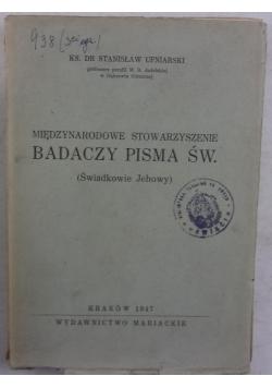 Międzynarodowe stowarzyszenie Badaczy pism św., 1947r.