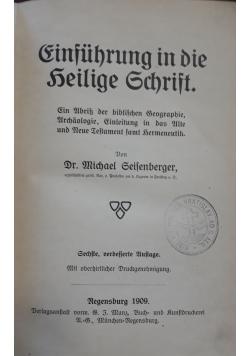 Einfuhrung in die heilige schrift, 1909 r.