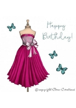 Karnet Swarovski kwadrat CL0306 Urodziny sukienka