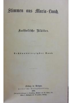 Stimmen aus Maria Laach 46 band, 1894r.