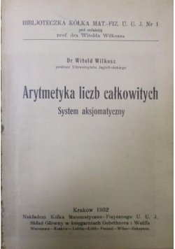 Arytmetyka liczb całkowitych, 1932 r.