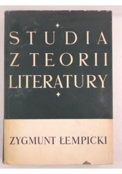 Studia z teorii literatury, Tom II