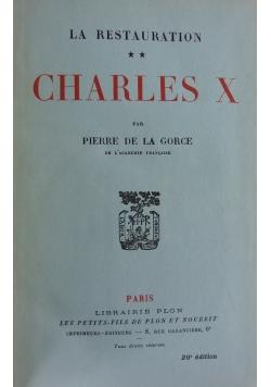 Charles X. ok 1928